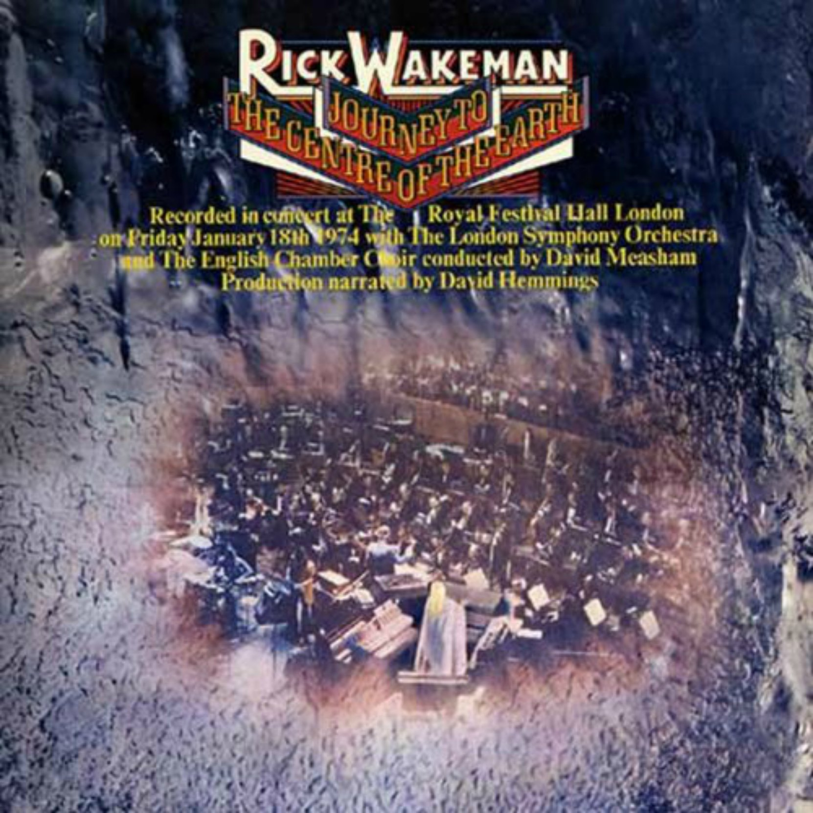 CD cover, Rick Wakeman - Journey To The Center of the Earth - A&M Records