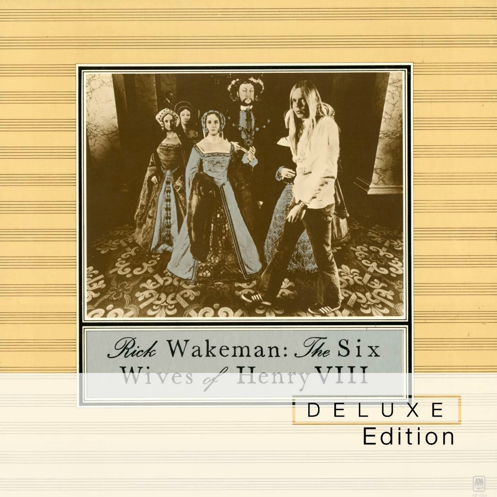 CD cover, Rick Wakeman - The Six Wives of henry VIII - A&M Records